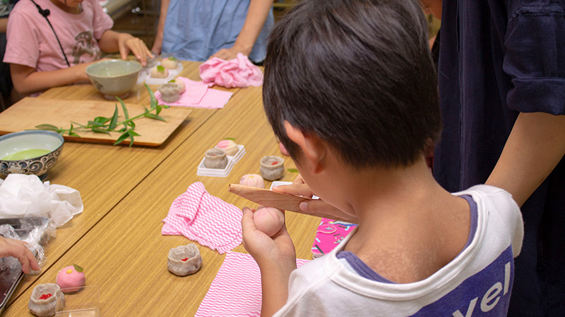 Wagashi making and Matcha experience